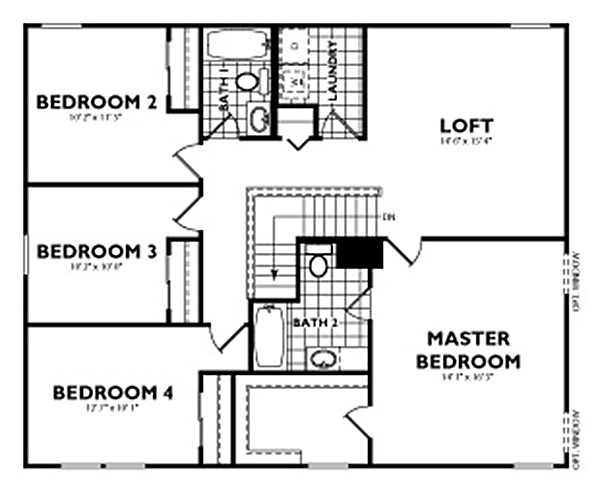 Lafayette2ndfp davis homes for Davis homes floor plans
