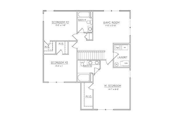 2038 2nd Floor Plan Davis Homes