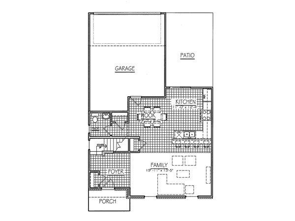 Harding Rear Load First Floor Davis Homes