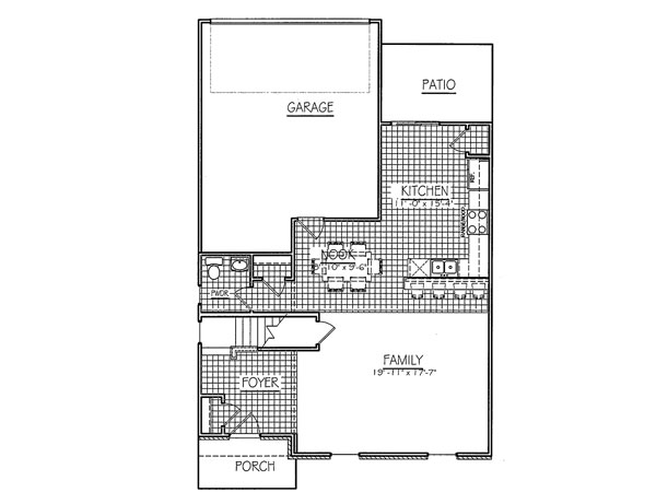 Taylor rear load first floor davis homes for Davis homes floor plans