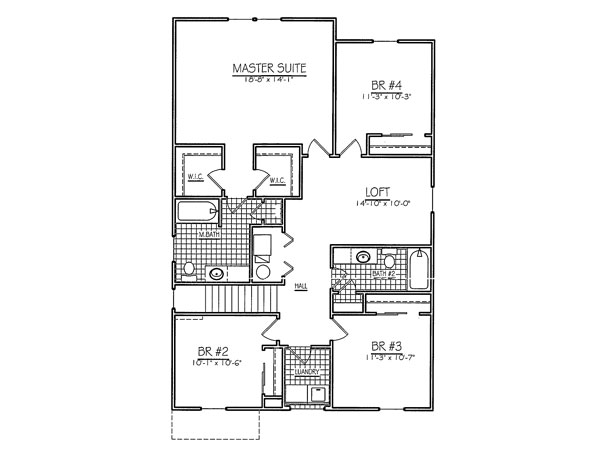 Taylor rear load second floor davis homes for Davis homes floor plans