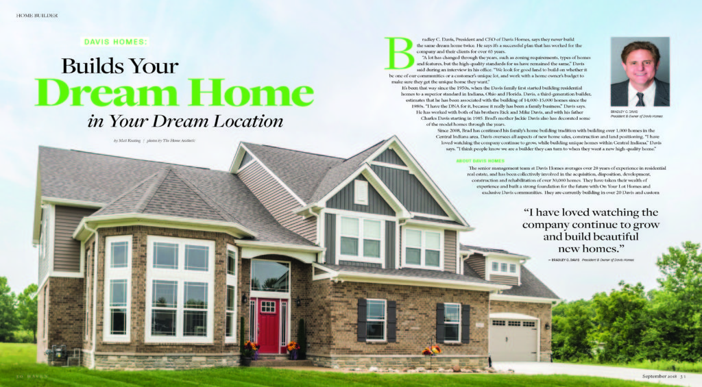 DAVIS HOMES Builds Your Dream Home in Your Dream Location - Davis Homes